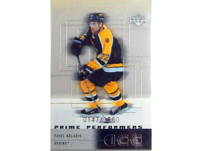 hokejova karticka pavel kolarik 1999