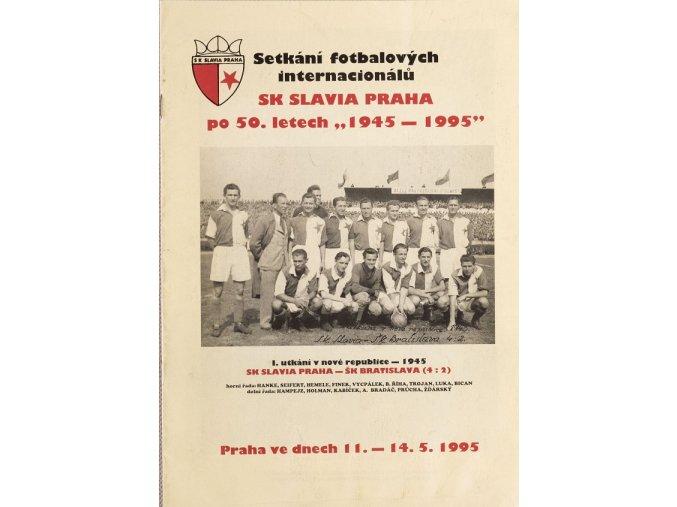 Setkání fotbalových internacionálů SK SLAVIA PRAHA po 50 letech