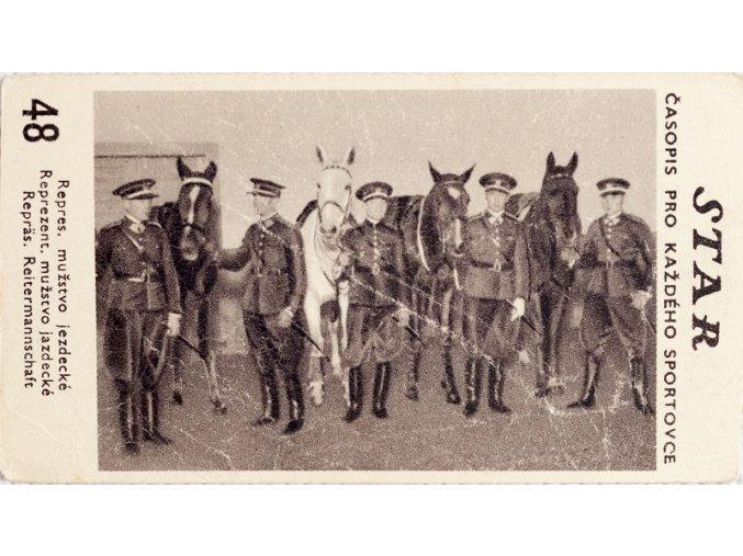 Kartička z časopisu STAR, 48, Repres.mužstvo jezdecké