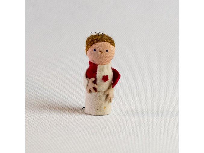 Vánoční ozdoba, figurka Slávisty 1