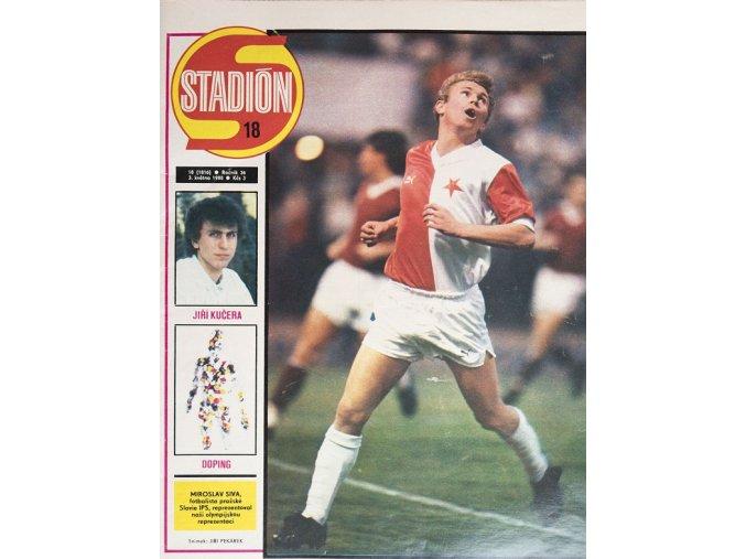 Časopis STADION, ročník 36, 3.V.1988, číslo 18