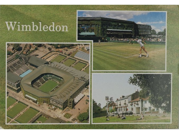 Pohlednice Wimbledon barevná