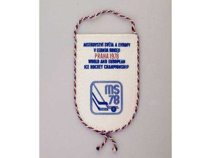 Autovlajka klubová MS hokej 1978 Praha ES