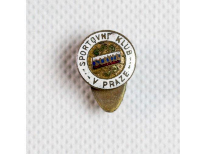 Odznak smalt Slavia Sportovní klub v Praze IV.