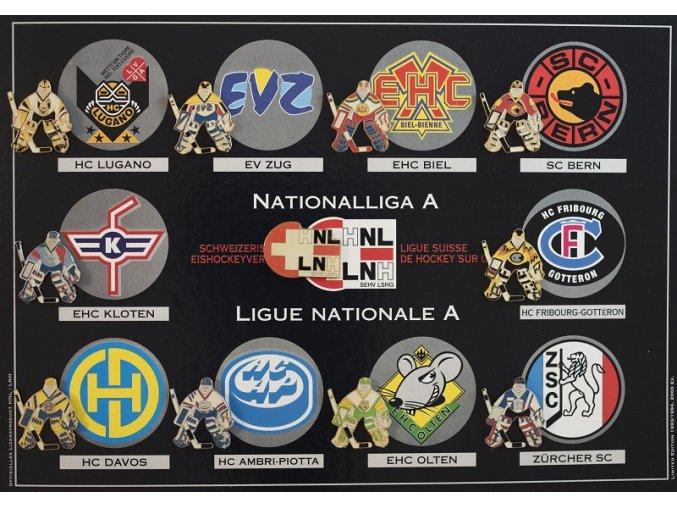 Sada odznaků Ligue Suisse de hockey 1993 1994