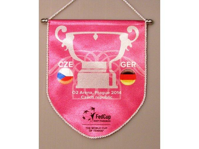 Autovlajka CZE GER Fed cup final 2014