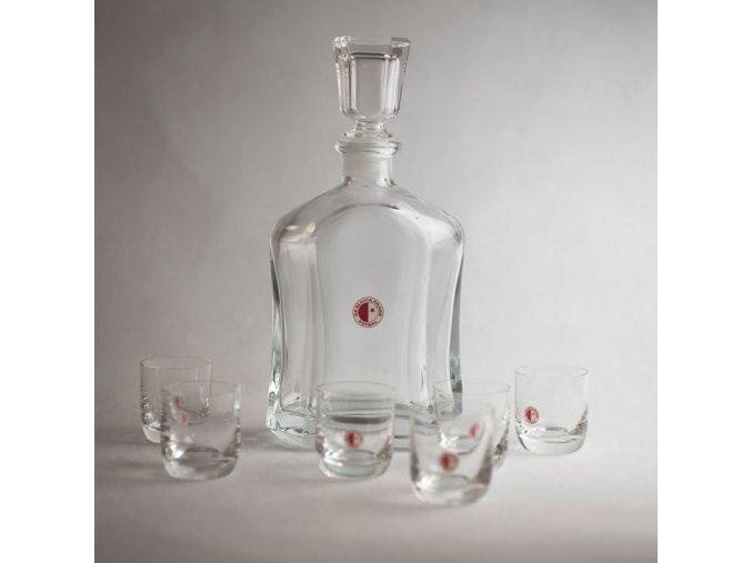 Likérová sada, šest sklenic SK Slavia Praha