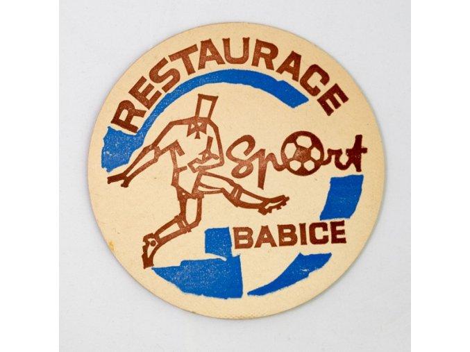 Pivní tácek Restaurace Babice Sport
