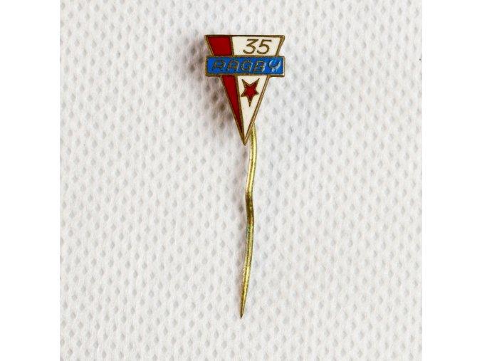 Odznak Ragby SLAVIA PRAHA 35 let 1
