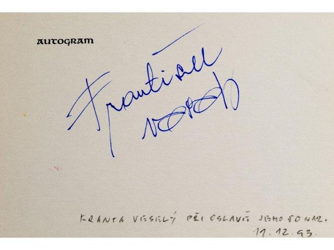 Autogram František Veselý I 1
