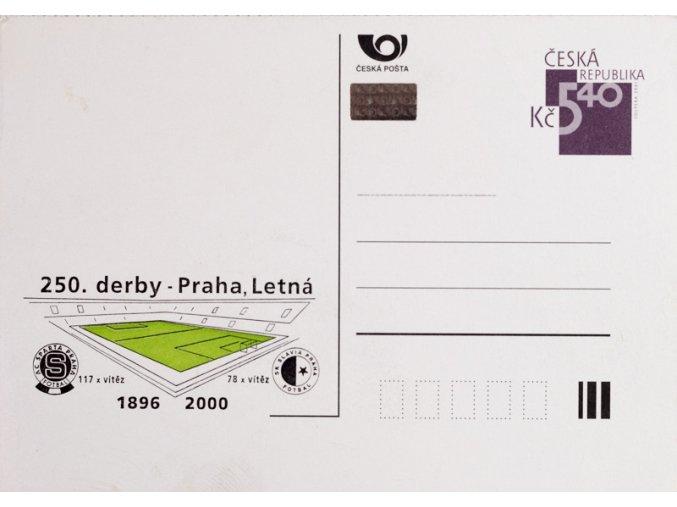 Dopisnice – 250. derby Praha, Letná SPARTA vs. SLAVIA