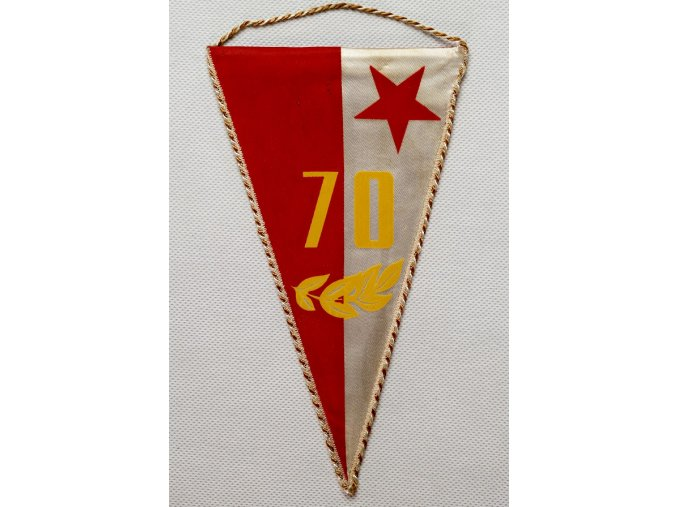 Klubová vlajka 70 let TJ SLAVIA PRAHA 1
