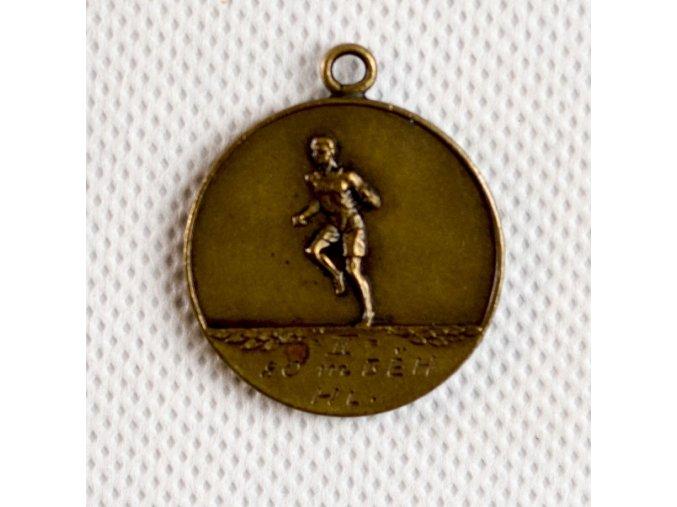 Bronzová medaile SK Slavia Praha 1931, školní přebor 2