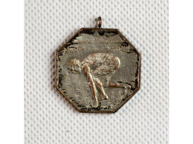 Medaile SK Slavia Praha 1904, vrh disku 1