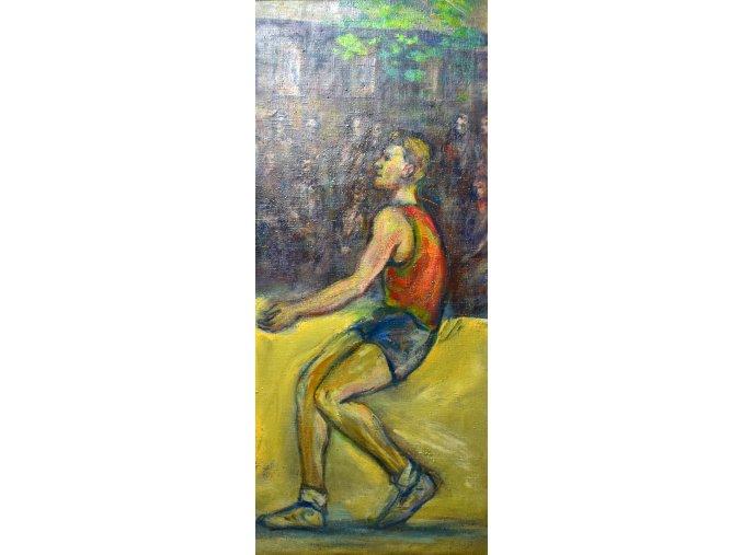 sport antique obraz volejbalista bez ramu