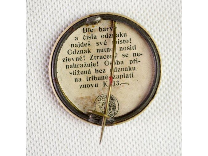 Odznak slet sokolstva v Praze 1912 Stálá vstupenka 1