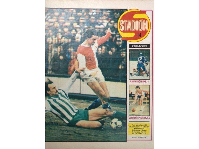 Časopis STADION, ročník 33, 2.IV.1985, číslo 14