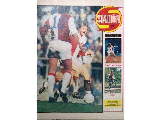 Časopis STADION, ročník 33, 28.IV.1987, číslo 17.dng