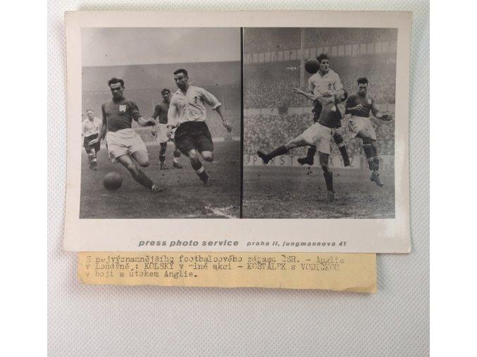 Tiskové foto, nejvýznamnější fotbalový zápas ČSR Anglie.dng