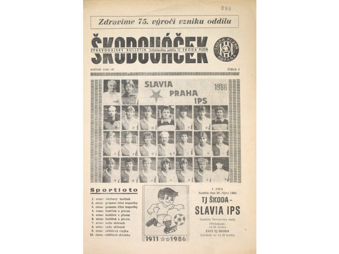Zpravodajský bulletin k 75. výročí založení oddílu Plzeň.dng