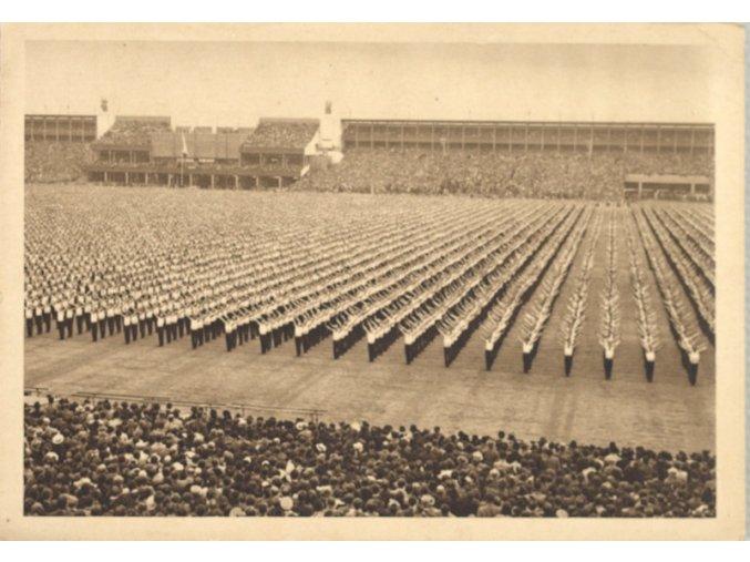 Pohlednice  -První hlavní sletový den 1938