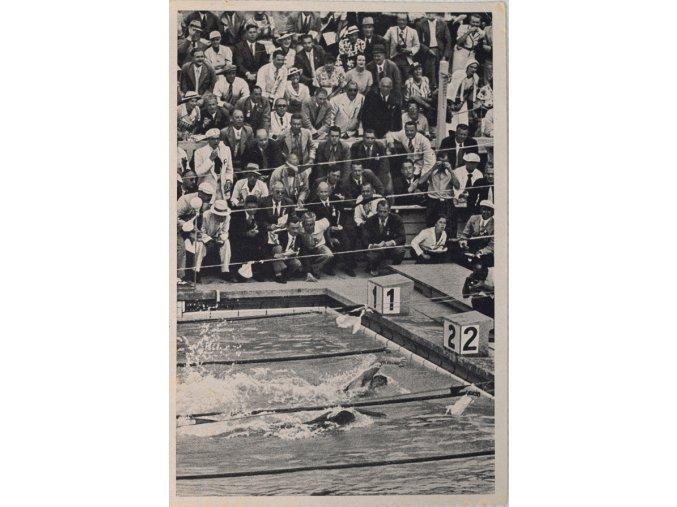 Kartička Olympia 1936, Berlin. 400 m plavání.dng