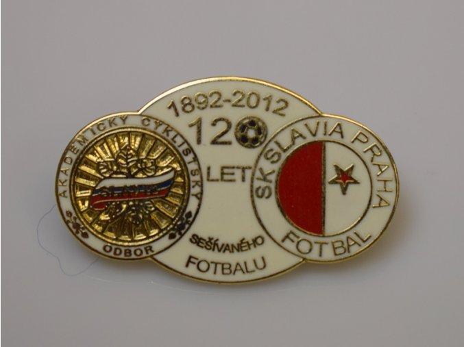 Odznak 120 let 2012 , smalt, S.K.SLAVIA