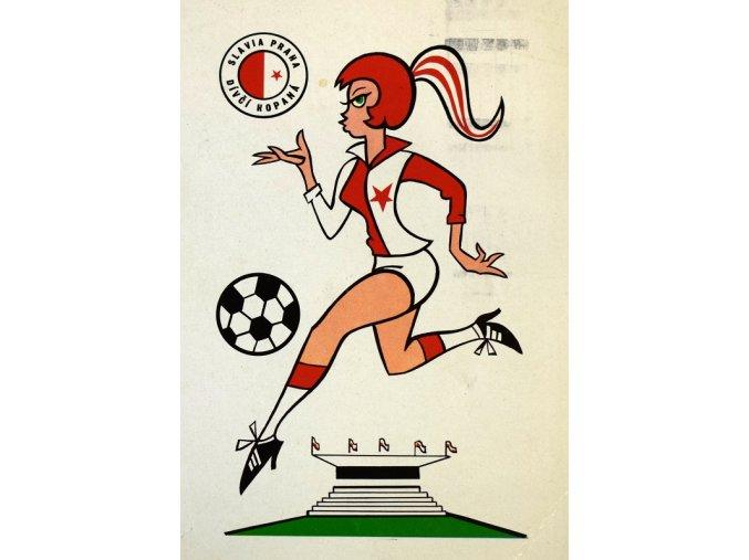 sport antique pohlednice zensky fotbal