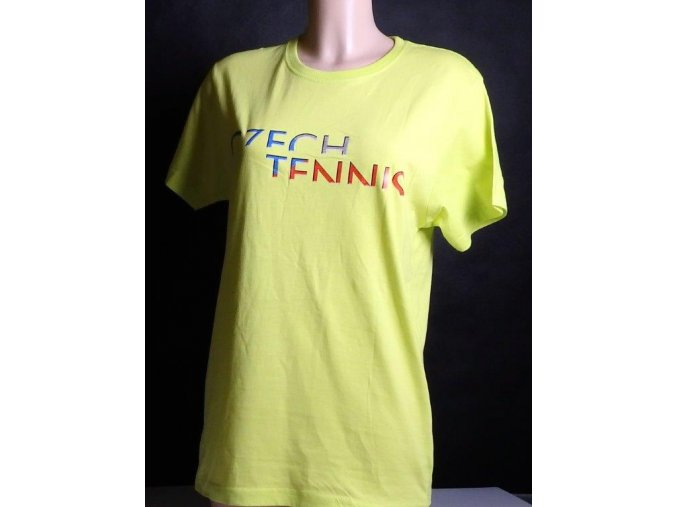 Tričko CZECH TENNIS citronové