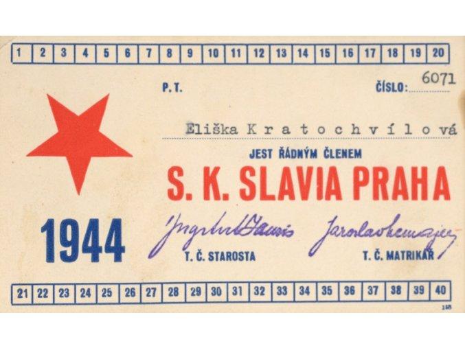 Legitimace P.T. klubu S.K.SLAVIA PRAHA z roku 1944 IIDSC 8519.dng
