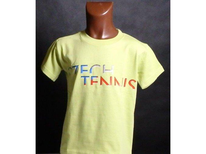 Dětské tričko CZECH TENNIS zelenožluté