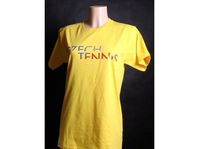 Tričko CZECH TENNIS tmavě žluté