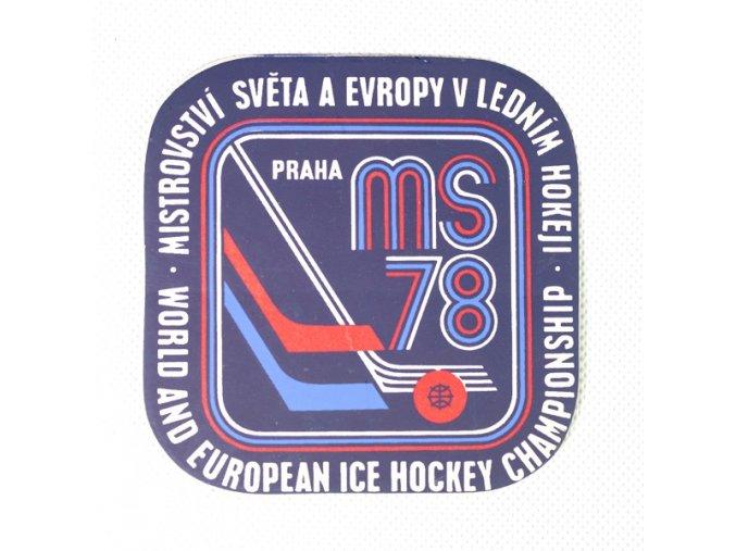 Samolepka 1978, MS Hokej Praha , modráDSC 9872