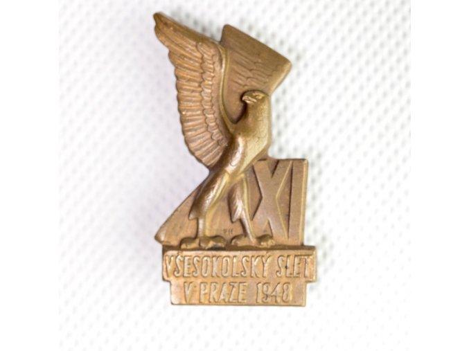 Odznak předsletové sokolské slavnosti v Pr1948uhyDSC 0001