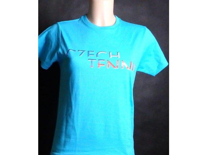 Dětské tričko CZECH TENNIS tirkysové