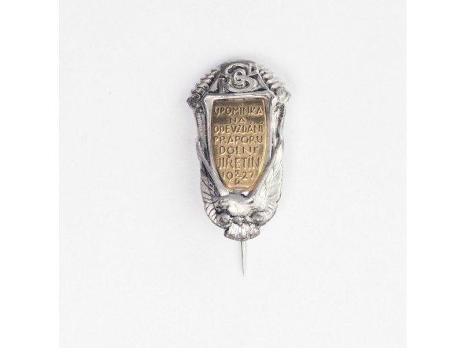 Odznak, Sokol, odevzdání praporu, 1927tDSC 9996 1 (67)
