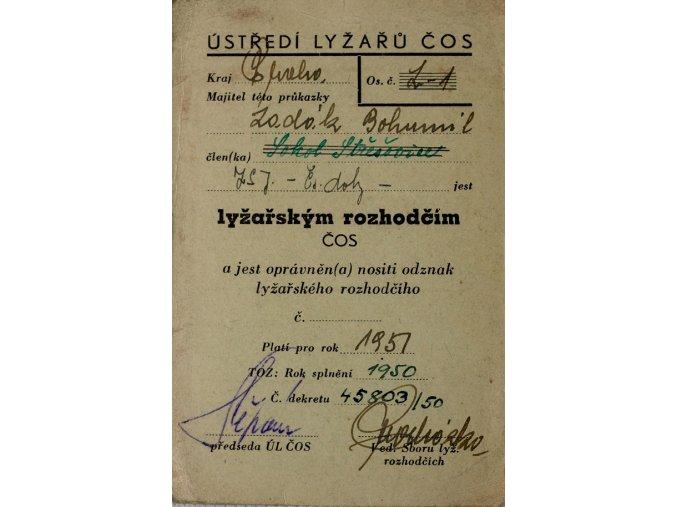 Průkazka Lyžařský rozhodčíDSC 0173