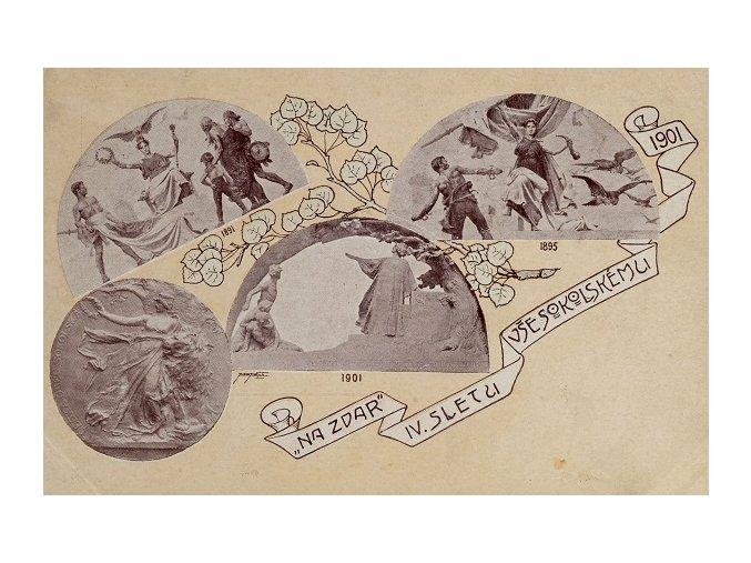Dopisnice, Na zdar IV.Sletu 1901 všesokolskémuDSC 0379