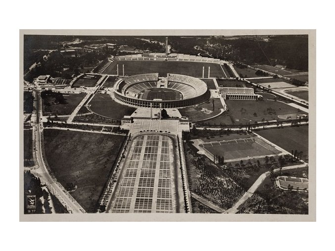 Pohlednice Olympic stadion Berlin, 1936DSC 1048