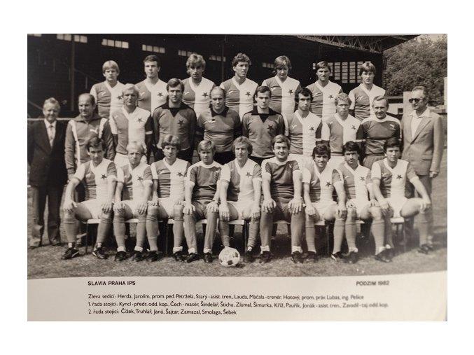 Fotografie fotbalový tým Slavia Praha 1982DSC 2214