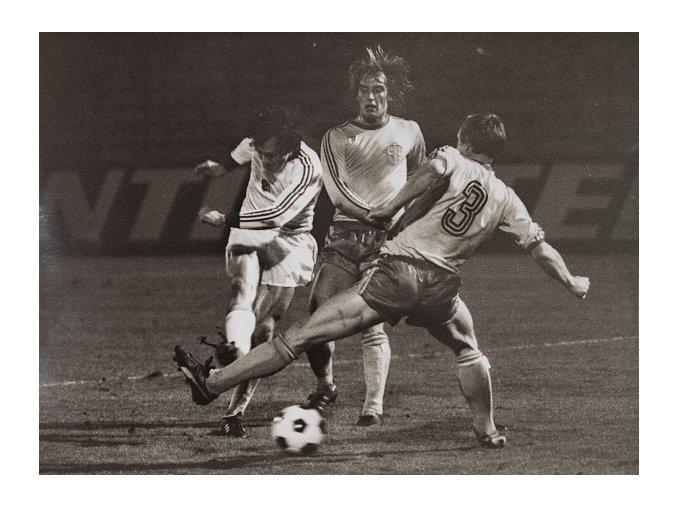 Zápas československé fotbalové reprezentace v kvalifikaci na Mistrovství Evropy 1980 hraný 4.10.1978.DSC 2331