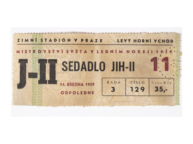 Vstupenka MS v Ledním hokeji, Praha, 1959DSC 4235