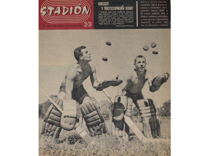 Časopis STADION, ročník 11, 16.VIII.1963, číslo 33DSC 4309