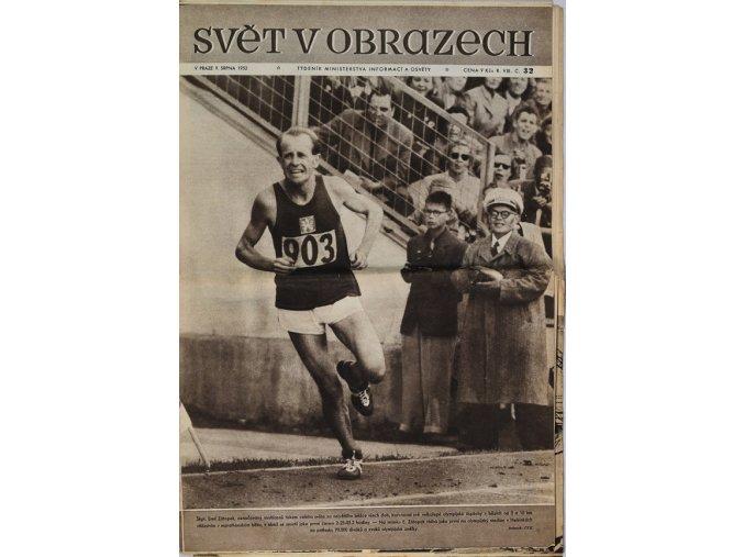 Noviny Svět v obrazech, Emil Zátopek