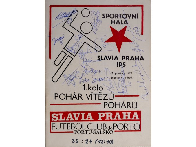 Program házená Slavia vs. Porto, 1979DSC 4354