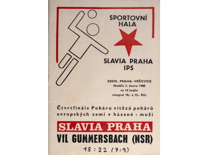 Program házená Slavia vs. Gummersbach, 1980DSC 4356