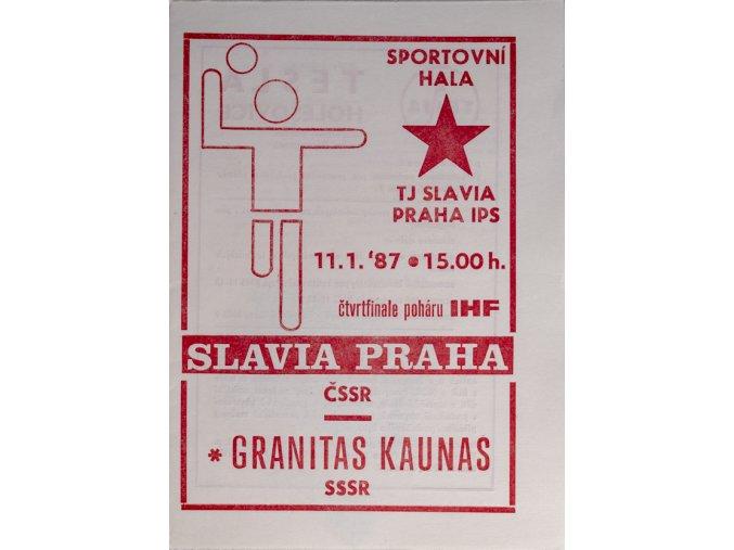 Program házená Slavia vs. Kaunas, 19870DSC 4355