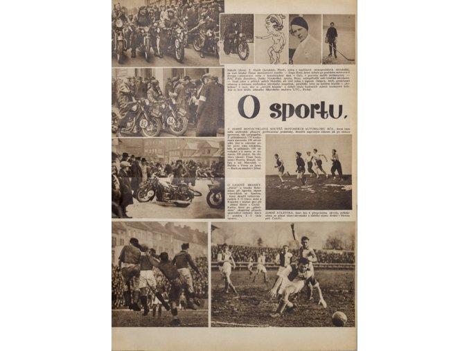Časopis, O sportu, SLAVIA, fragment 1934DSC 4459