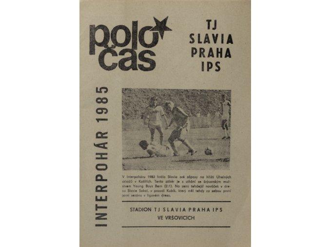 POLOČAS TJ SLAVIA Praha IPS  INTERPOHÁR 1985