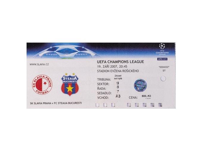 Vstupenka fotbal SK Slavia Prague vs. FC Steaua BucurestiDSC 4604